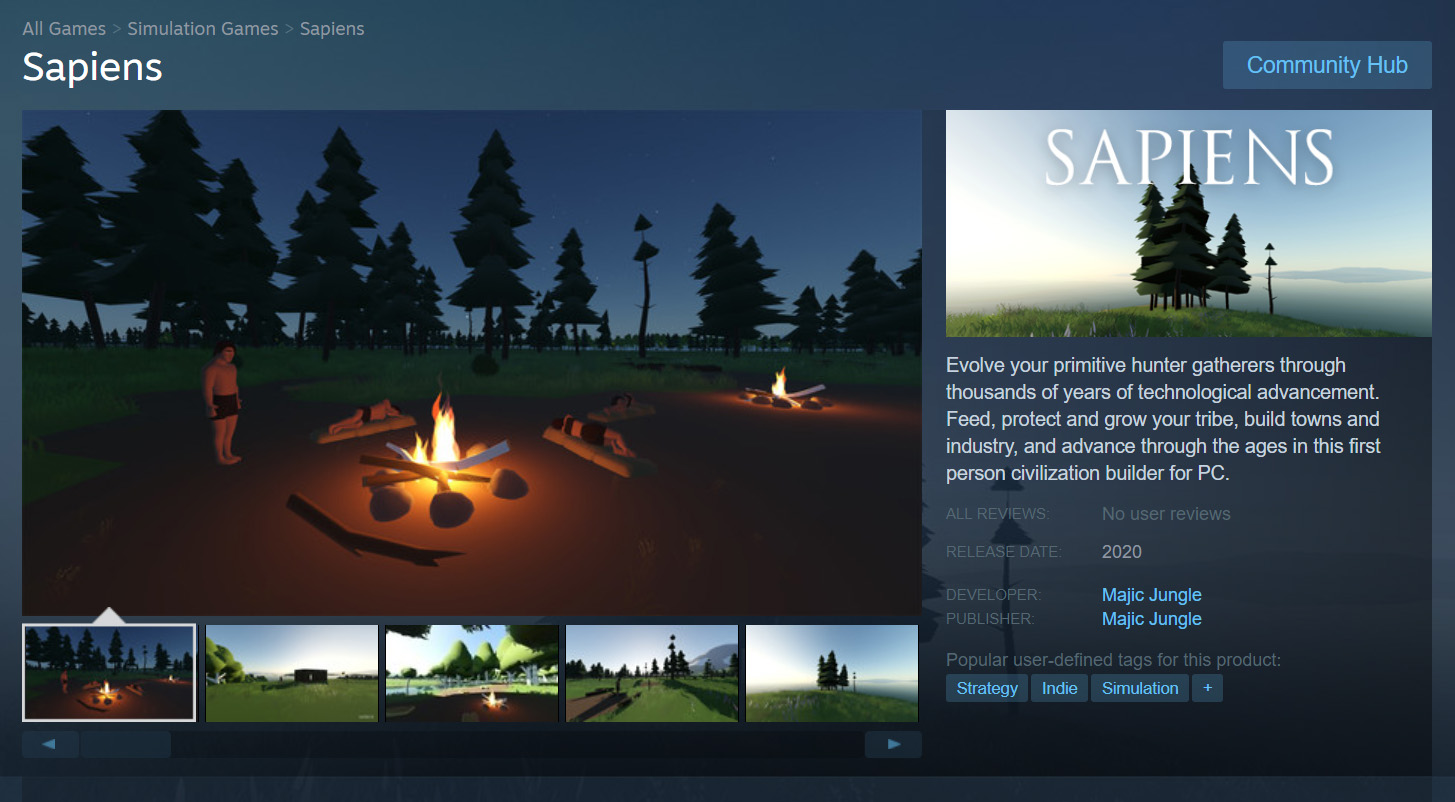 You can now add Sapiens to your Steam wishlist feature image